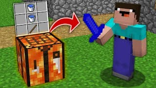 Minecraft NOOB vs PRO: HOW NOOB CRAFT WATER SWORD ON LAVA CRAFTING TABLE? Challenge 100% trolling