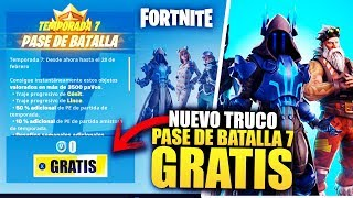 HOW TO GET THE * 7 BATTLE PASS * FREE [PC, XBOX, PS4] | FORTNITE BATTLE ROYALE