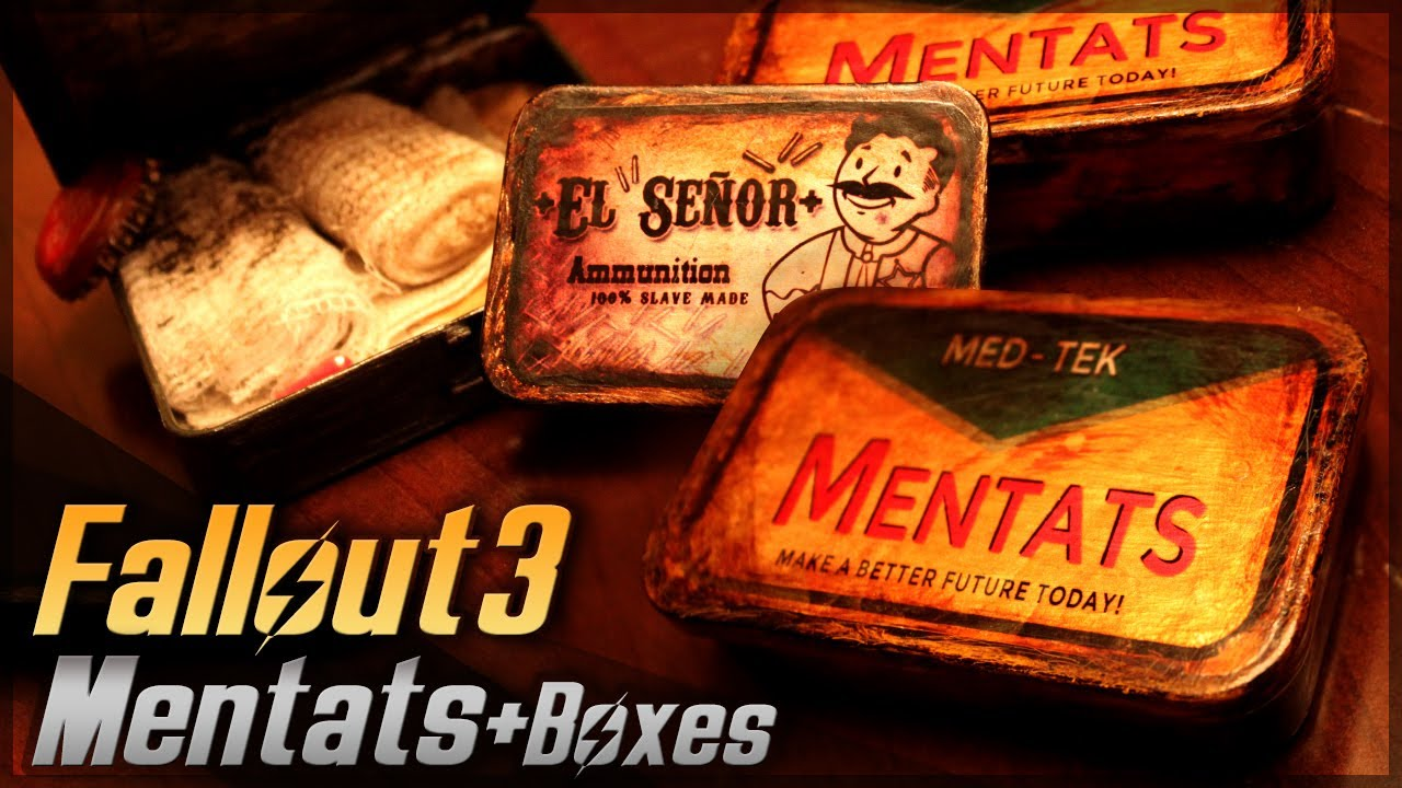 Mentats plus boxes fallout 3 props travel kit How to make your own house in fallout 3