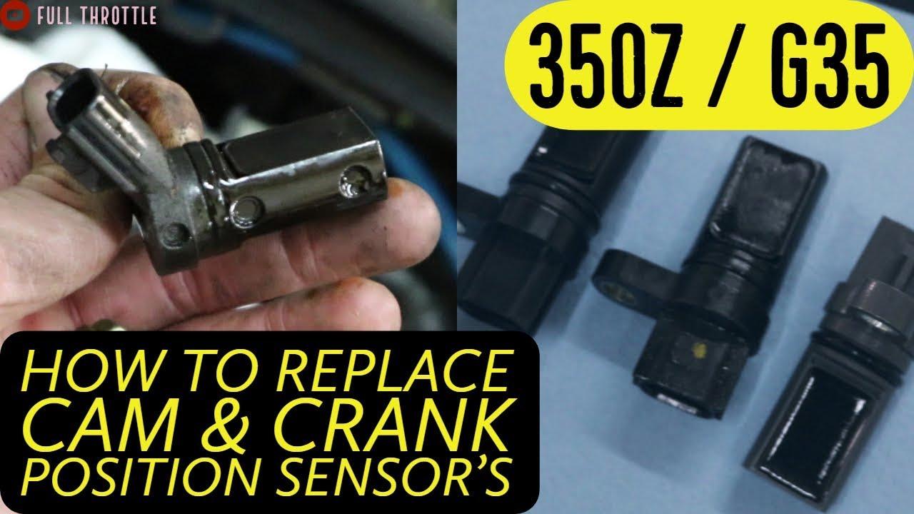 How To Replace Camshaft & Crankshaft Position Sensors 350Z G35 Cam & Crank  Sensor Replacement