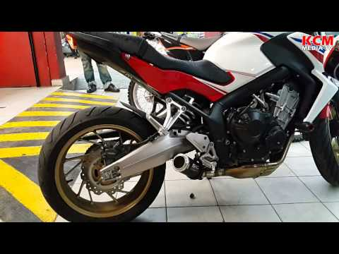 honda cb 650 f with sc project exhaust sound youtube. Black Bedroom Furniture Sets. Home Design Ideas