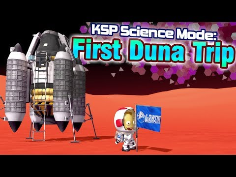 KSP: Getting to DUNA for the first time!    -  Science Mode Playthrough (ft. Making History DLC) thumbnail