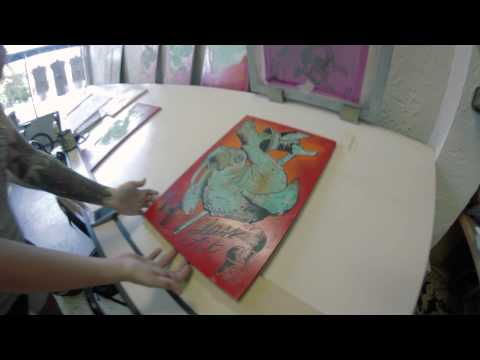 Screen-Printing With Molly Pehle at Jolly Roger Skateboards