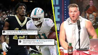 Pat McAfee Reacts To Michael Thomas, DeVante Parker Beef On Instagram