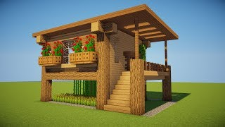 NEXT LEVEL SURVIVAL! How to build a SURVIVAL HOUSE in Minecraft!