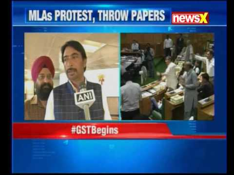 Jammu and Kashmir lawmakers marshalled out of assembly; restriction on media covering GST session