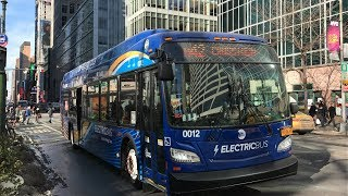 NYC Transit Bus HD 60fps: Riding New Flyer Xcelsior XE40 Battery Electric East on The M42 (1/10/18)