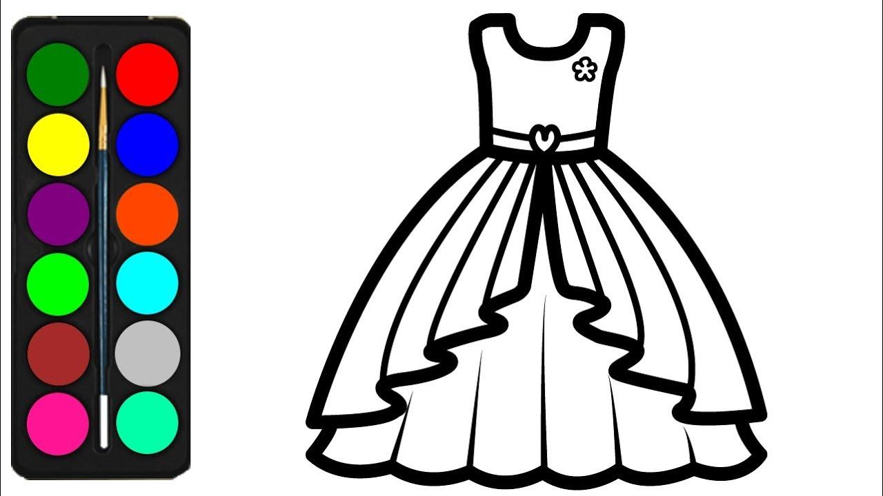 Barbie Dress Coloring Pages for Kids - Barbie Dress ...