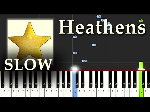 Piano Keys To Heathens For Roblox Heathens Piano In Letters