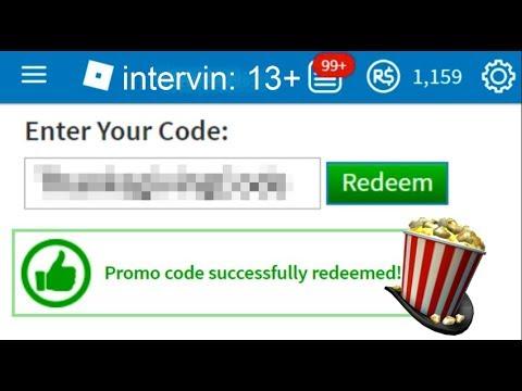 ROBLOX NEW PROMO CODE! -Showtime Bloxy Popcorn Hat ...
