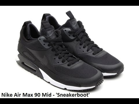 a597ae6043fd Nike Air Max 90 Sneakerboot Black - Review - YouTube