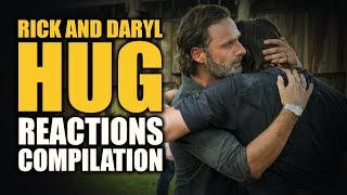 The Walking Dead RICK AND DARYL HUG Reactions Compilation