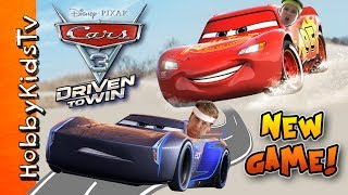 NEW Disney/Pixar Cars 3: Driven to Win Video Game! By HobbyKidsTV