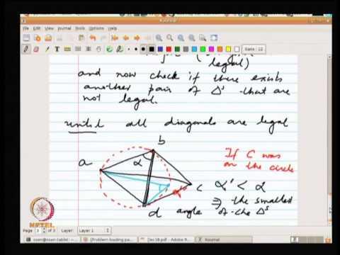 Mod-08 Lec-19 Delaunay Triangulation.