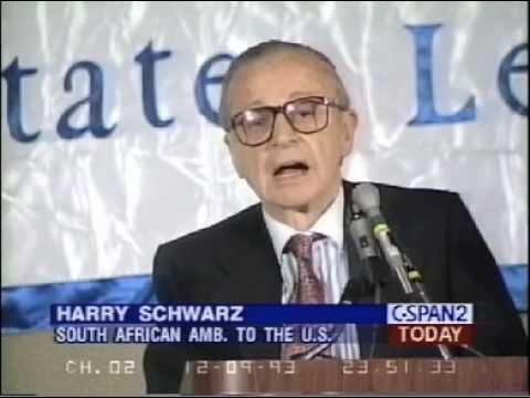 Ambassador Harry Schwarz urges support for post-apartheid South Africa