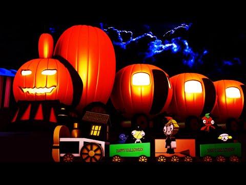 Choo Choo Train - Toy Factory - Trains for Kids - Train Videos - Cartoon - Halloween Pumpkin