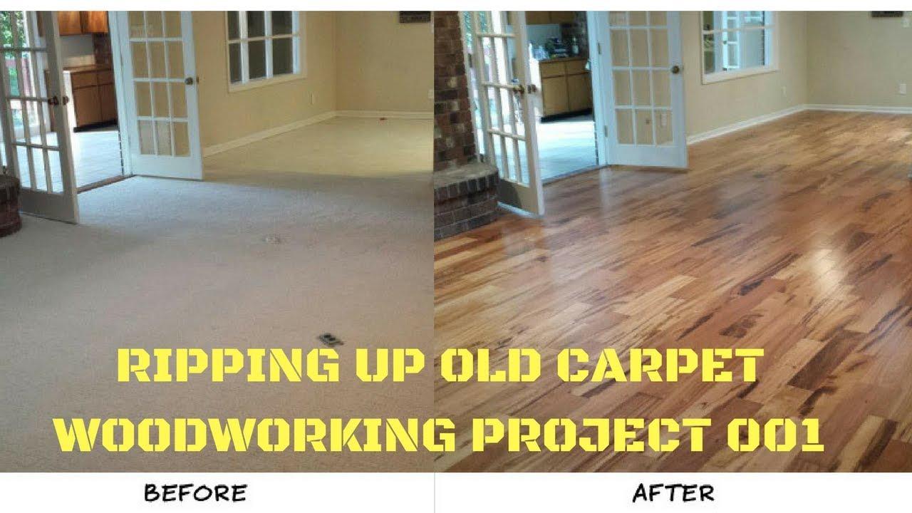 Ripping up old carpet replacing with hardwood youtube ripping up old carpet replacing with hardwood baanklon Choice Image