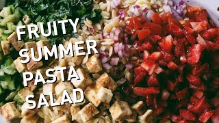 FRUITY SUMMER PASTA SALAD  VEGAN + OIL FREE