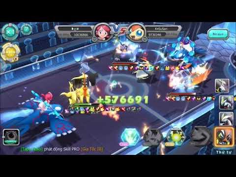 Poke land legends vietnam version electric team vs bw team