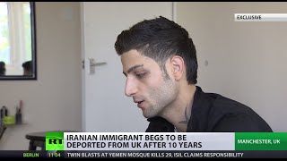 'Enough of Manchester!': Iranian immigrant begs police to deport him back from UK