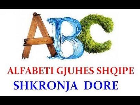 Alfabeti Shqip Shkronjat Dore - Albania Alphabet Leters  Hand
