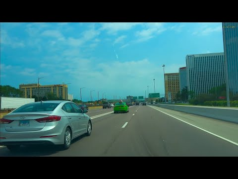 [4K] Driving From Chicago O'Hare International Airport To Navy Pier Downtown Chicago Illinois USA