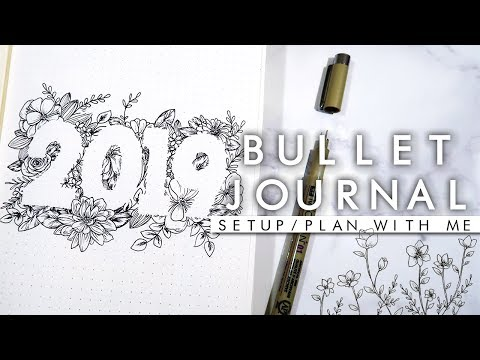2019 New Bullet Journal/Planner Setup ✨Elegant✨
