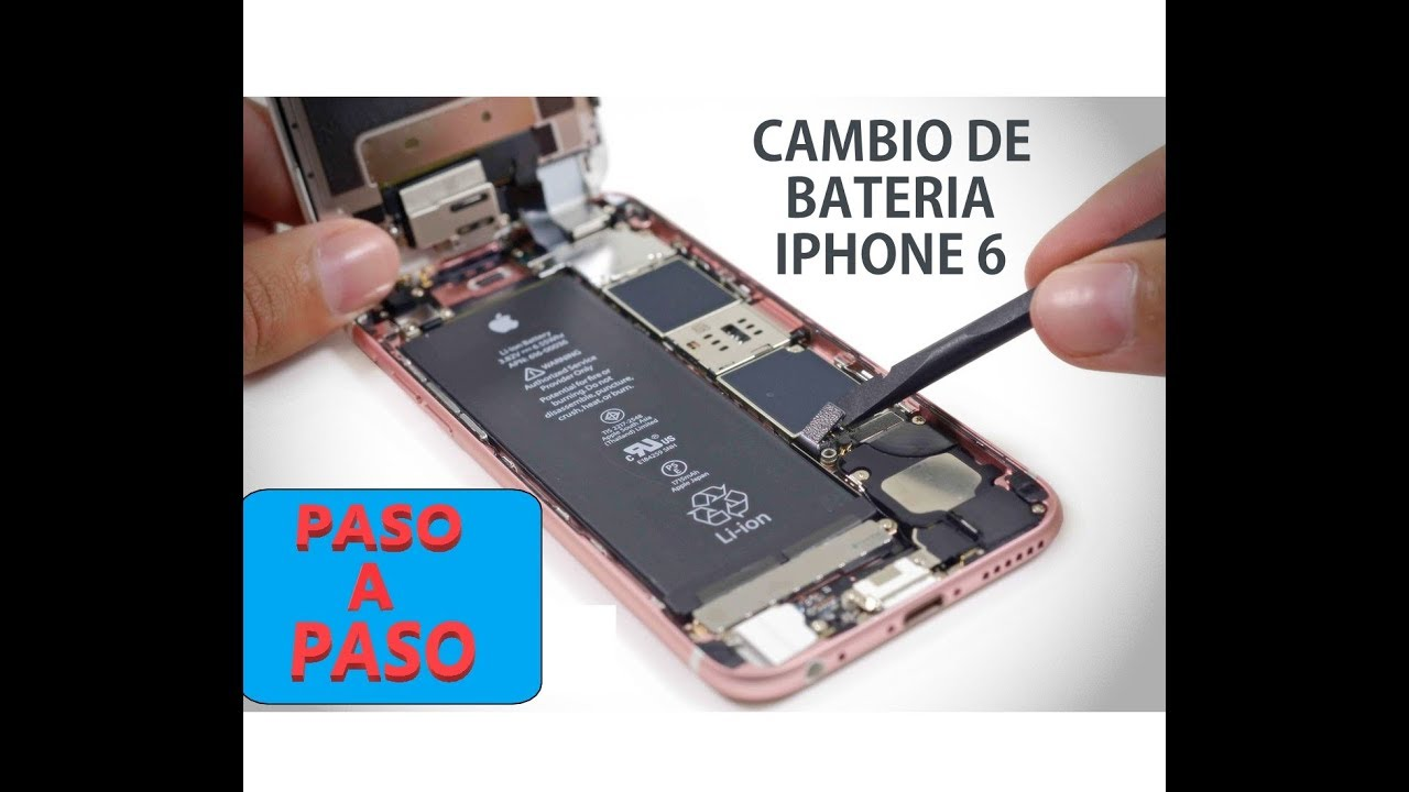 iphone 6 tutorial cambiar bater 237 a iphone 6 guia paso a paso muy f 225 cil 11436