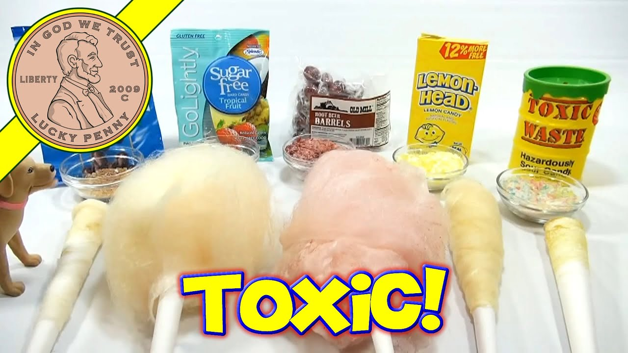 Cotton Candy Flavor Series: Toxic Waste, Lemon Heads, Sugar Free & Root  Beer Barrels