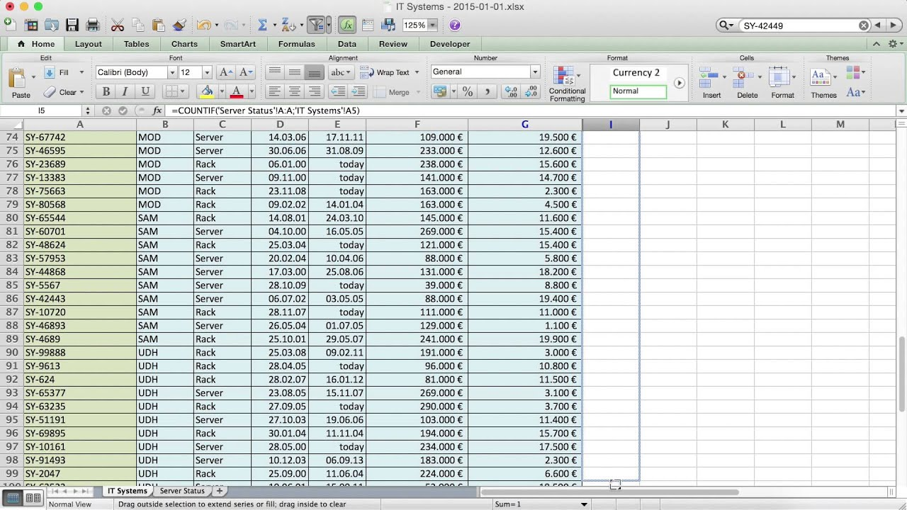 Excel How To P Re Two T Bles Sec D Youtube