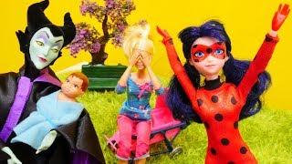 Spielspaß mit Ladybug - Malefiz besucht Barbie - Spielzeugvideo für Kinder