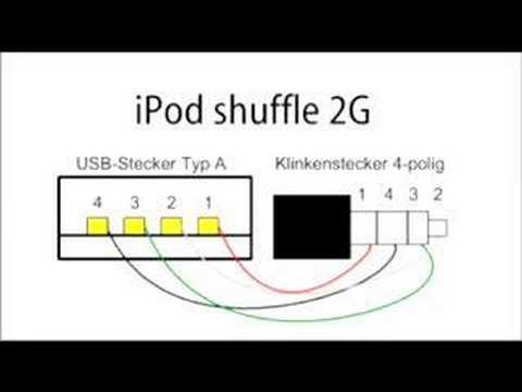 2nd gen ipod shuffle sync cable youtube rh youtube com Midi to USB Wiring-Diagram USB Color Diagram