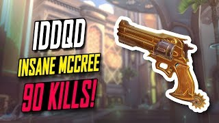 NRG IDDQD IMPOSSIBLE MCCREE - 90 KILLS! HE'S INSANE [ OVERWATCH SEASON 5 TOP 500 ]