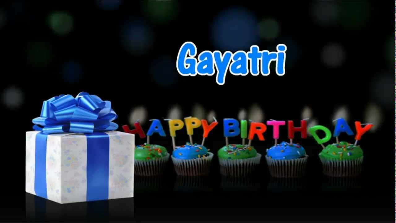 Happy Birthday Balloons With Names ~ Happy birthday gayatri youtube