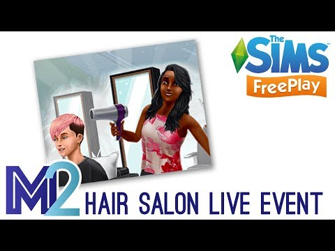 Sims FreePlay - Hair Salon Live Event Prizes (Early Access Preview)