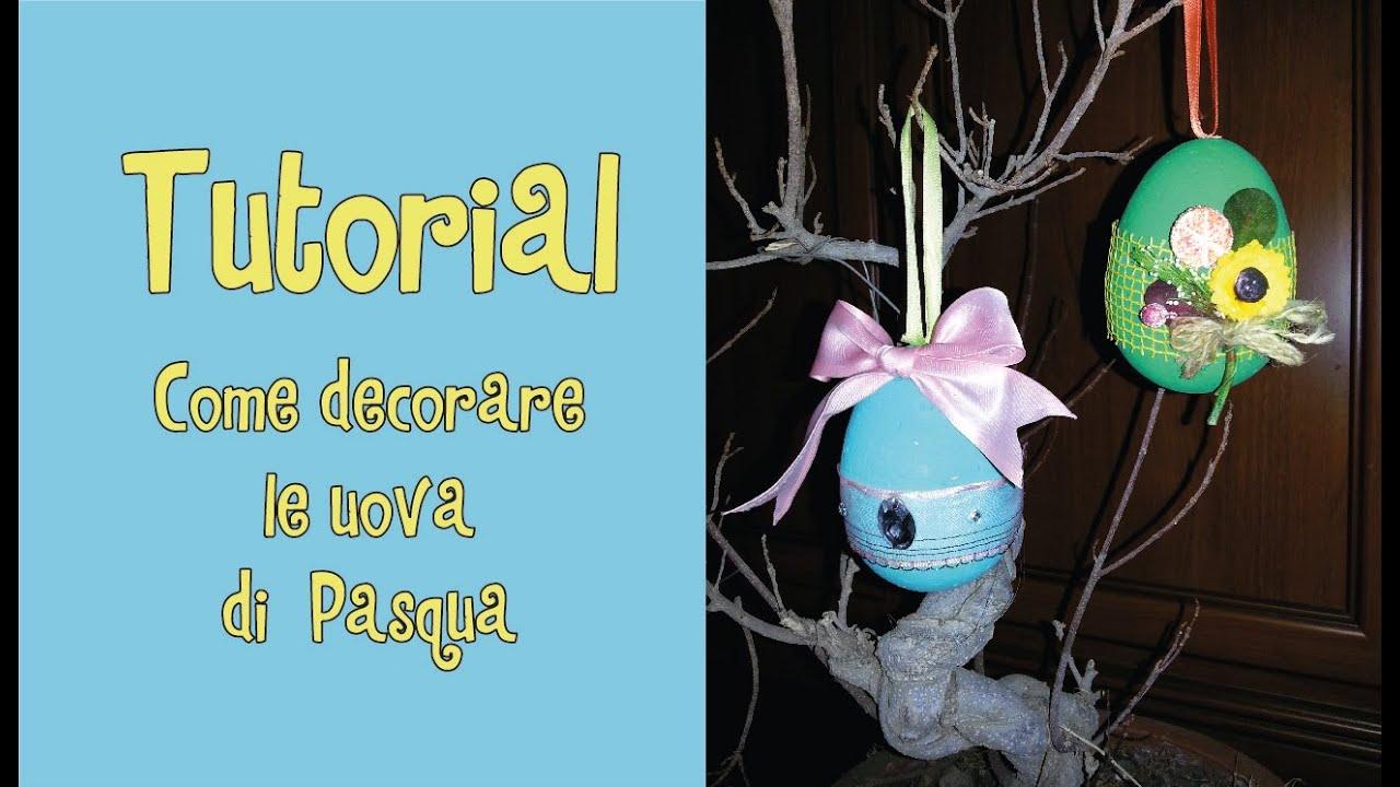 Eccezionale Tutorial - COME DECORARE LE UOVA DI PASQUA - YouTube NL52