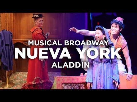 El mejor musical de Broadway Nueva York. Aladdin
