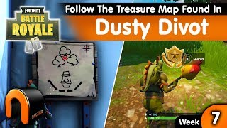 Follow The Treasure Map Found In DUSTY DIVOT Fortnite Week 7 Challenge
