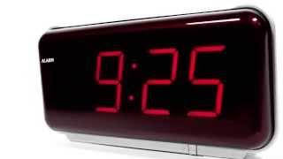 Produktvideo zu Wecker mit großer LED-Anzeige Atlanta Alarm 1159