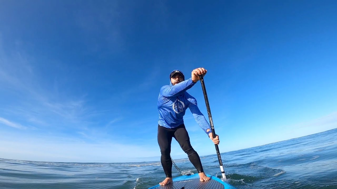Baie de St Jean de Luz en balade sportive sur l'eau. Dec.2020. Waterman Life_SUP racing.