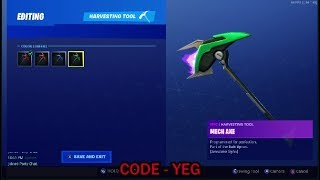 "*NEW* UNLOCKING NEW VENDETTA ""MECH AXE' PICKAXE on Fortnite Battle Royale Season 9"