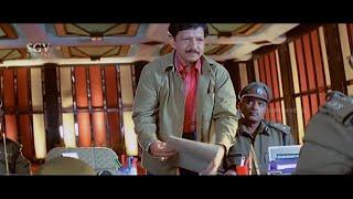 Commissioner Shocked After Seeing Dr.Vishnuvardhan   Best Scene of Kotigobba Kannada Movie