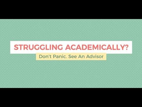 Academic Difficulty & Advising