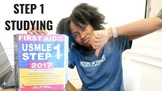 My USMLE STEP 1 Experience Full Day of Studying Med School Vlog