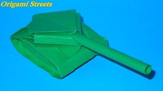 Как сделать танк из бумаги. Оригами танк своими руками.