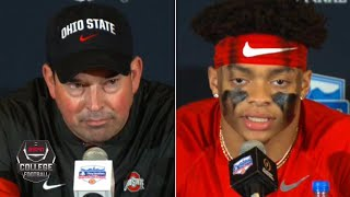 Ryan Day, Justin Fields react to Ohio State's Fiesta Bowl loss to Clemson | College Football on ESPN