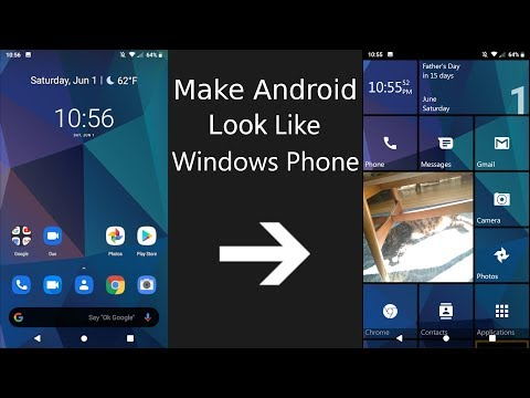Make Android Look And Function Like Windows 10 Mobile (2019)