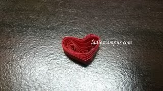 Paper Quilling | Tutorial | DIY | Learn how to make Quilling Shape No 13 - Heart