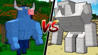 MYTHICAL MINECRAFT BOSSES vs NEW MINECRAFT GOLEM!!