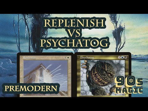 UW Replenish Vs UB Psychatog [MTG Premodern] Old Middle School